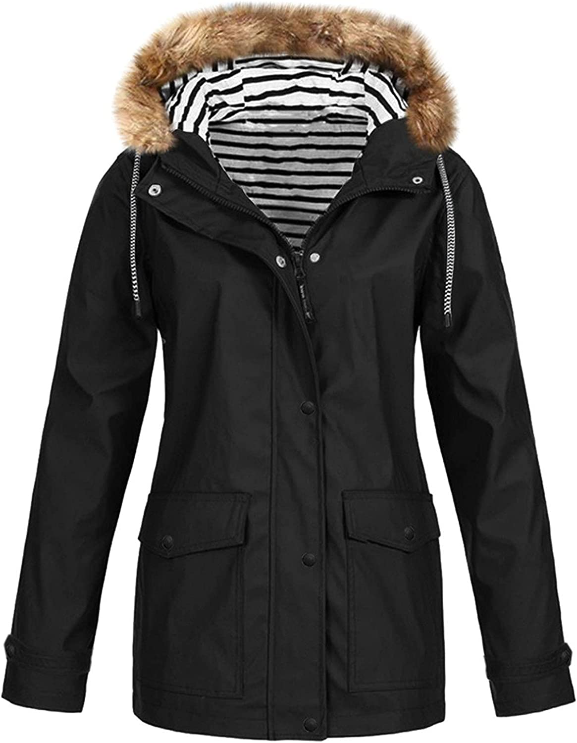 Solid Jacket for Women Winter Coat Fall Fashion Casual Windproof