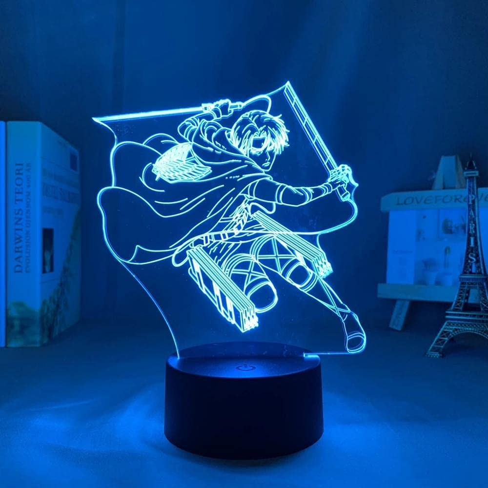 Attack on Titan Year-end annual account Japanese Anime Light Illusion 1 Arlington Mall Sign Lamp LED 3D