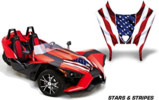 AMR Racing Graphics Polaris Slingshot SL 2015-2016 Vinyl Wrap Hood Kit - Stars and Stripes