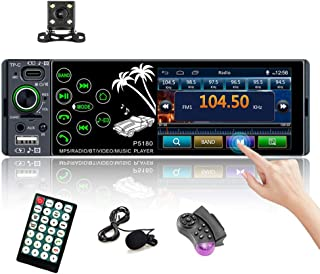 "Bluetooth Multimedia Car Stereo Single Din Radio 3.8"" HD Touchscreen AUX-in SD Card USB TP-C Port FM Radio Audio Receiver ... photo"