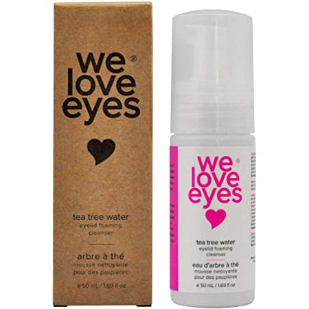 We Love Eyes - 100% Oil Free Tea Tree Water Eyelid Foaming Cleanser – For Eyelash Extensions, Extend Lash Retention, Non-Irritating Formula, Remove sources of Inflammation and Debris, Paraben & Sulfate Free