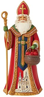 Enesco Jim Shore Heartwood Creek Czech Santa Figurine