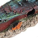 Decoración para barcos de naufragio de pecera, varios acuarios hundidos, resina no tóxica hecha de resina color pecera (colorido)