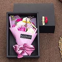 手作り石鹸の花の花束は11本のバラが含まれています バレンタイン・デー (Color : E)