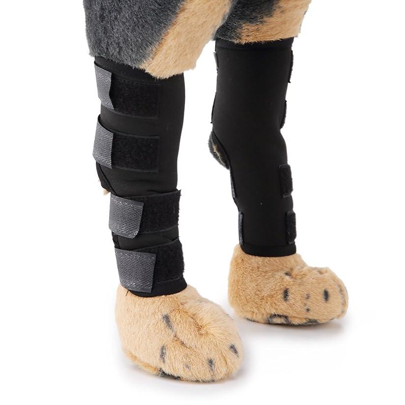あなたのものささいなボンド(エスライフ) S-Lifeeling ペット用リハビリ 関節プロテクター マジックテープ 犬用膝サポーター 犬骨折治療 小型犬 中型犬 大型犬 老犬介護 保健 ケア用品 ブラック