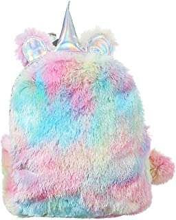 Beauenty Girls Plush Fashion Backpack,Shool Women Bag Travel (Multicolor)