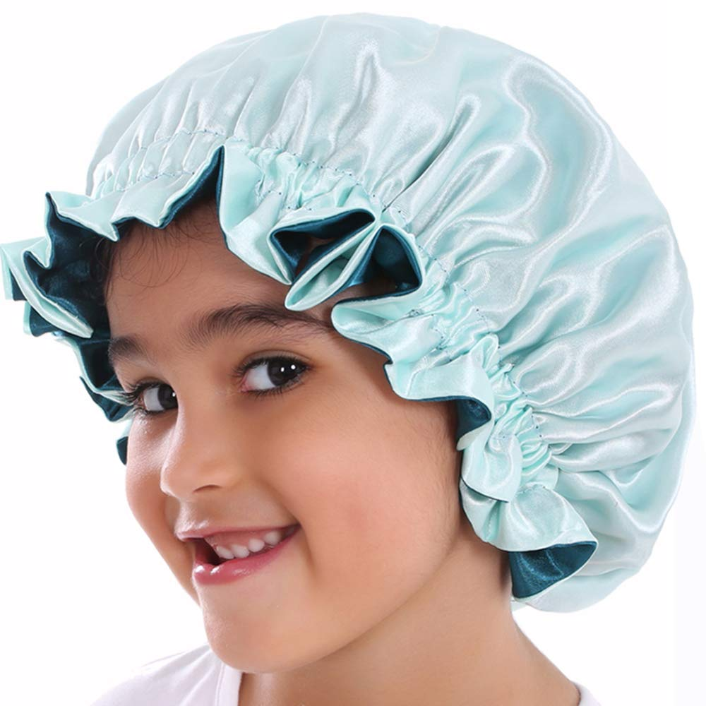 Satin Bonnet Indianapolis Max 50% OFF Mall for Kids Cap Sleeping Silk f