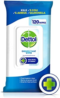 Dettol Antibacterial Disinfectant Surface Cleaning Wipes (120 Pack)