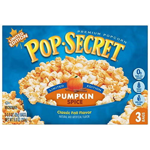 Find Discount Pop Secret Pumpkin Spice, 3 Count (Pack of 12)