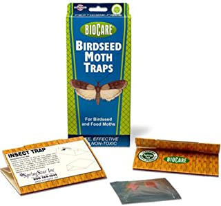 BioCare Birdseed and Pantry Moth Traps with Pheromone Lures, Nontoxic and Pesticide-Free, Made in USA, 2 Count - S204