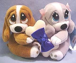 Sapphire September Sad Sam and Honey Birthstone Basset Hound Stuffed Animals