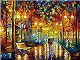 Puzzle 1000 Piezas, Goorder Puzzles para Adultos, Walking In The Rain Puzzles ,colorido juego de habilidad para toda la familia, Educativo Juguete Descompresión Juego Familiar (70x50cm)