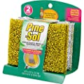 Pine-Sol Non-Scratch Scouring Pads – Pack of 2, Metallic Household Cleaning Scrubbers, Safe with Nonstick Cookware