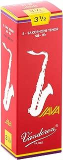Vandoren SR2735R Tenor Sax JAVA Red Reeds Strength 3.5; Box of 5