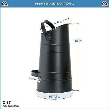 Achla Designs C-67 Pellet Top Handle Scuttle, Black