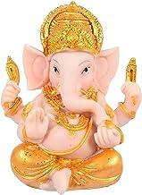 Elephant God Figurine Ganesha Buddha Statue, Resin Elephant God Sculpture, Meditation Sitting Statue Desktop Ornament for ...