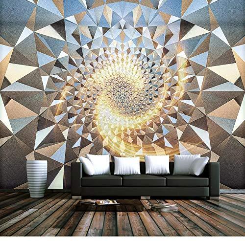 VVNASD 3D Mur Fond D'Écran Décorations Peintures Murales des Autocollants Espace Abstrait Motif Géométrique Bar Salon Chambre Art des Gamins TV (W) 200X(H) 140Cm