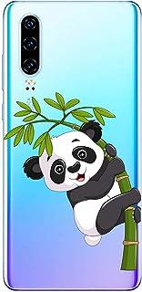 Suhctup Funda Compatible para Nokia 4.2,Carcasa Transparente Dibujos Animal Suave Silicona TPU Gel Bumper Ultra Pulgada Antigolpes Crystal Clear Protector Piel Case Cover,Panda 2