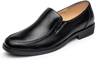 [HuKe] TIOSEBON スリッポン メンズ 本革 ビジネス 革靴 3e ローファー ドライビングシューズ 紳士靴 軽量 レザー EEE 通勤 黒 プレゼント 父の日