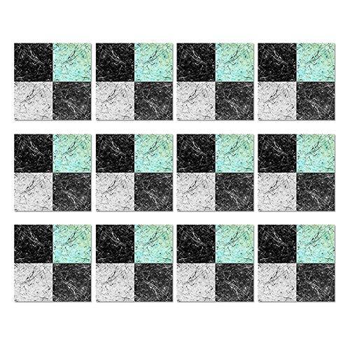 Mousyee Mosaic Tile Stickers Baño, 20 PCS Pegatina de azulejo de mosaico, 20 cm x 20 cm Auto adhesivo Afilado Impermeable Efecto Mosaico Mosaico Pegatinas Transferencias Transferencias para baño Cocin