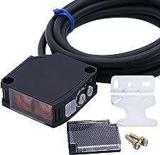 Twidec/6M Cable Induction Indoor Wall Mounted Photoelectric Beam Sensor 24-240V AC/DC E3JK-4M1 Retroreflective photoelectric Sensor Switch Proximity Switch + Reflector Panel E3JK-RR12-Z-G