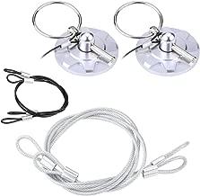 Estink Hood Lock,2PCs Universal CNC Aluminum Car Vehicle Racing Hood Pin Lock Latches Lock Appearance Kit (Silver)