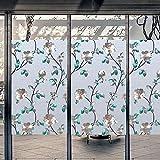 LMKJ Pellicola per vetri smerigliata Senza Adesivo Protezione della Privacy Colore Impermeabile Adesivo per finestre in Vetro elettrostatico A5 30x100cm