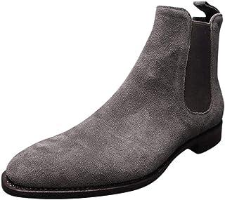DQS Hommes Bottes Hommes Chelsea Bottes Bottines Plus Velours Bottes Hautes Chaussures de Marche en Plein air Chaussures d...