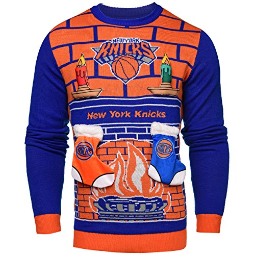 Forever Collectibles NBA 3D Ugly Pullover, Unisex, New York Knicks, XX-Large