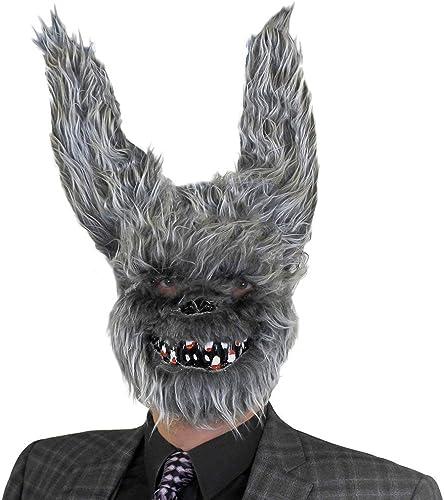 Erwachsene Kunstpelz Grau H hen Halloween Maske - perfekt Zubeh für Größelig Kostüm - EinheitsGröße passend für die meisten - erh lich in mehrfach-pack Grün  1 Stück Paket aus 3 6er Pack mit