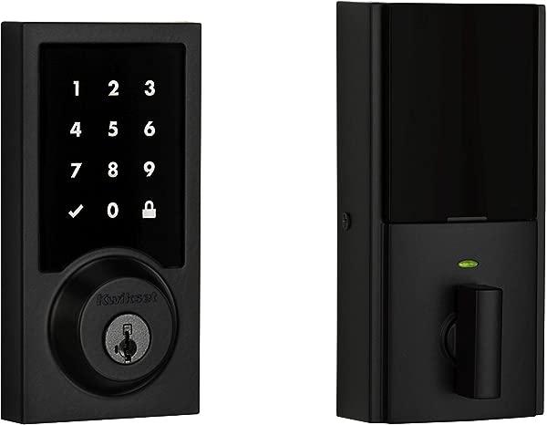 Kwikset 99160 028 SmartCode 916 Modern Contemporary Touchscreen Smart Lock Deadbolt Featuring SmartKey Security And Z Wave Plus Iron Black