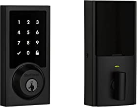 Kwikset 99160-028 SmartCode 916 Modern Contemporary Touchscreen Smart Lock Deadbolt Featuring SmartKey Security and Z-Wave Plus, Iron Black