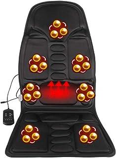 WSN Cojín de Asiento de Masaje vibratorio, Masajeador de Espalda con diseño de Control Remoto Inteligente de Calor Uso Dual para automóvil y hogar,B,UK
