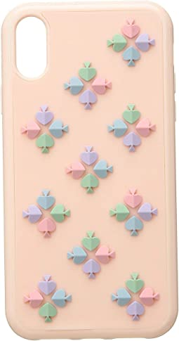 Silicone Spade Flower Phone Case for iPhone XR
