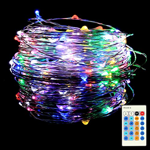 10M 100 LED Fairy Lights Remote Control Colourful USB String Lights Wire Waterproof with Switch, Mood Lights for Room, Indoor, Christmas, Children's Room, Outdoor, Party, Wedding, DIY.