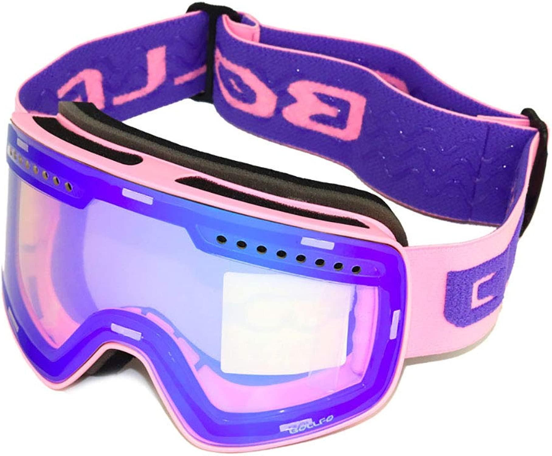 ZAJY Skibrille Für männer Frauen, UV-Schutz Und Anti-Fog-Snowboard-Brille Mit Doppel-Objektiv Schnelle Objektiv-Wechsel-System Biegsamer Rahmen Für Ski-Motorschlitten