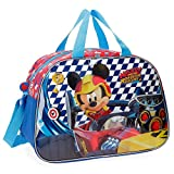 Disney Mickey Race Sac de Voyage, 40 cm, 24.64 liters, Multicolore (Multicolor)