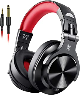 OneOdio Fusion Wired Over Ear Headphones, Studio DJ Headphones with Share-Port, Professional Adapter-Free Monitor Recording & Mixing Headphones with Stereo Sound for Electric Drum Piano Guitar Amp