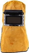 Breathable Welding Helmet with Lens, Leather Welding Helmet Mask Solar Auto Darkening..