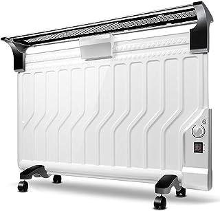 Qi Tai Calentadores eléctricos Calentador casero - Versión mecánica blanca Termostato de habitación eléctrico con calentador de radiador lleno de aceite Termostato eléctrico, ultrafino y ahorro de ene