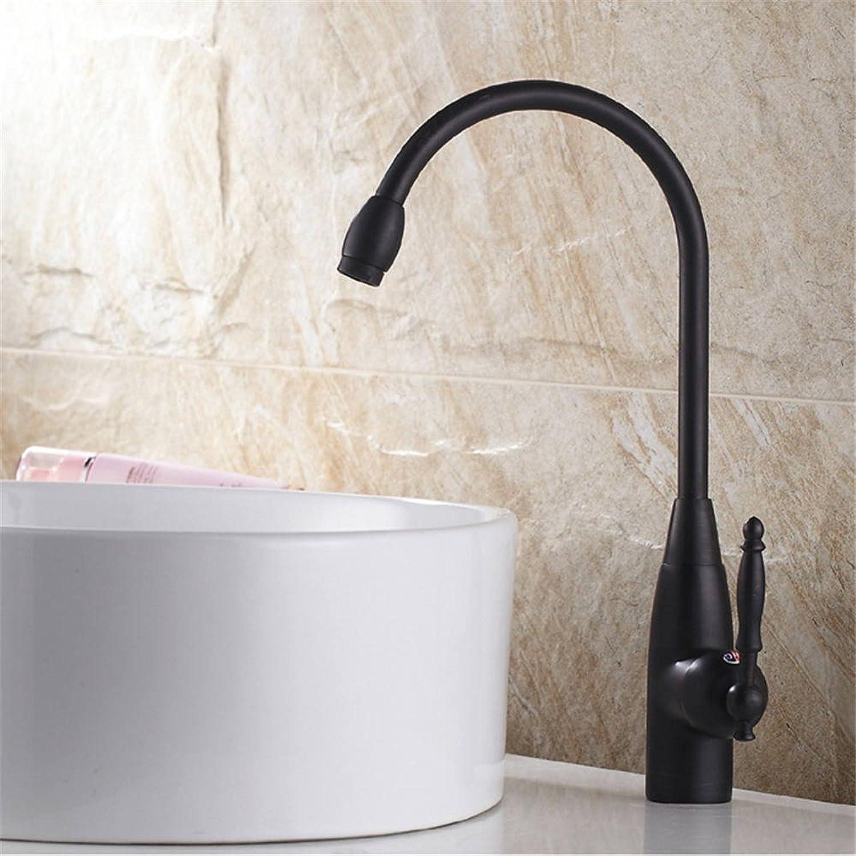 Bijjaladeva Wasserhahn Bad Wasserfall Mischbatterie Waschbecken Waschtisch Armatur Waschbeckenarmatur für BadezimmerSchwarzer Hahn schwenken Küchenarmatur Spüle Wasserhahn