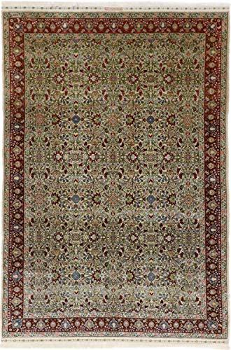 Nain Trading Herike Seide 214x145 Orientteppich Teppich Beige/Dunkelbraun Handgeknüpft Türkei