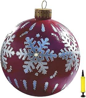Juldekorationer uppblåsbara julgranskulor, julboll av PVC, uppblåsbar boll, 60 cm jul uppblåsbara utomhusdekorationer uppb...