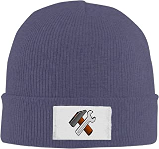 NO4LRM Men Women Spanner Wrench Tool Warm Stretchy Knit Wool Beanie Hat Solid Daily Skull Cap Outdoor Winter