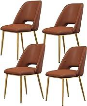 Flanelowa tkanina krzesła do jadalni zestaw 4 miękkich pikowanych nowoczesnych krzeseł do salonu tapicerowane krzesła bez ...