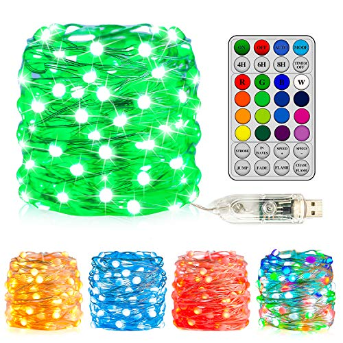 Fairy Lights for Bedroom String Lights 33 Ft 16 Colors Changing String Lights with 8 Lighting Modes...
