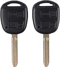 Kit de repuesto de llave de coche de mando con 2botones, con almohadilla de goma, para Toyota Prado RAV4