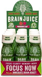 BrainJuice Brain Booster Shot, Pomegranate Acai | Liquid Drink Supplement for Improved Energy, Memory, Focus, Clarity & Mood, Gluten-Free, Non-GMO | 2.5 fl oz, 12 Count