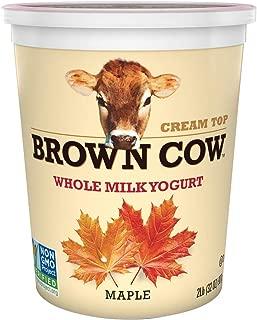 Brown Cow, Cream Top Maple Whole Milk Yogurt, 32 oz