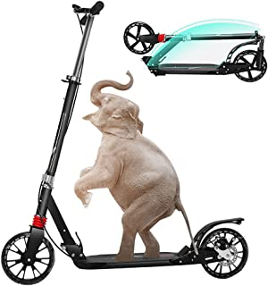 Erwachsene Roller Kinder Roller Scooter Faltbar Einstellbar  120 kg 2 Farben